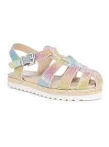 Multicoloured Mermaid Fisherman Sandals