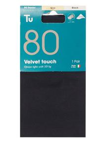 Black 80 Denier Velvet Touch Tights