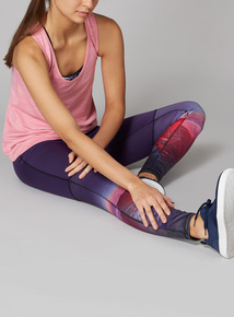 Multicoloured Horizon Print Active Leggings