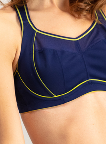 Active High Impact Navy Underwired Sports Bra