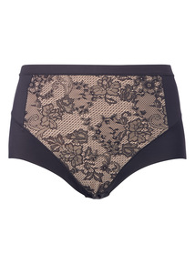 Black Lace Light Control No VPL Smoothing Brief