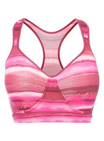 Pink Medium Impact Sports Bra