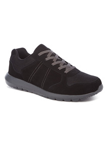 Sole Comfort Black Suede Trainers