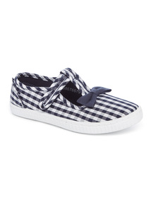 Gingham T Bar Shoes