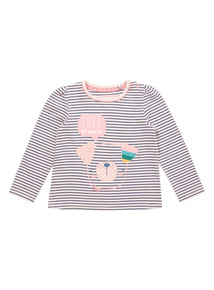 Navy and Pink Stripe Dog Tee (0-24 months)