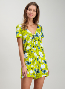 db9133f3ea Lime Palm Beach Floral Playsuit