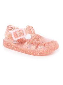Pink Glitter Jelly Sandals (2-5 infant)