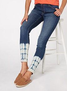 Denim Tie Dye Skinny Jeans