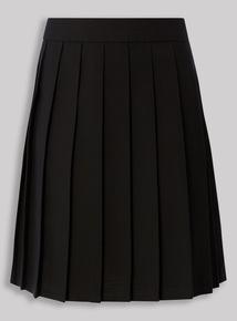 Black Permanent Pleat Skirt