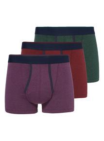 Multicoloured Antibacterial Trunks 3 Pack