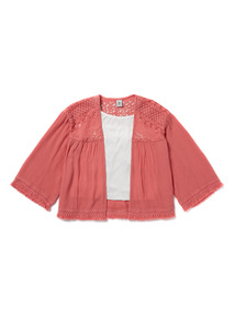 Pink and White Top and Kimono (3-14 years)