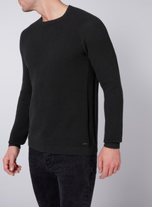 Admiral Khaki Textured Crew Neck Jumper