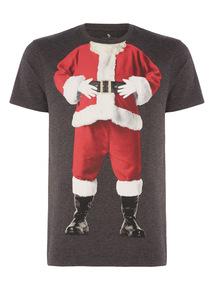 Charcoal Christmas Santa Tee