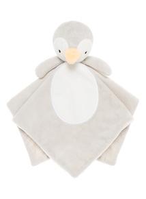 Grey Penguin Comforter (0-24 months)