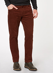 Burnt Orange Cord Trousers