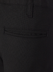 Boys Black Woven Generous Fit Trousers 2 Pack (3 - 12 years)