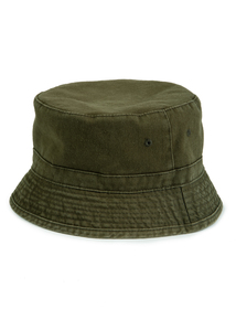 Khaki & Stone Reversible Bucket Hat