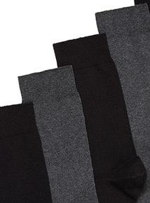 7 Pack Black & Charcoal Stay Fresh Socks