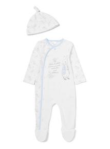 White Peter Rabbit Sleepsuit (Newborn-24 months)