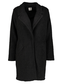 Black Teddy Fleece Overcoat