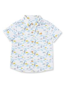 White Sea Life Print Shirt (0-24 months)