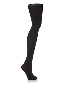 Black Opaque Tights With Argan Oil