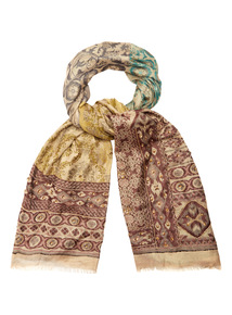Multicoloured Embroidered Scarf