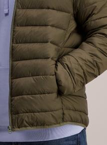 Khaki Thermolite Lightweight Puffer Jacket