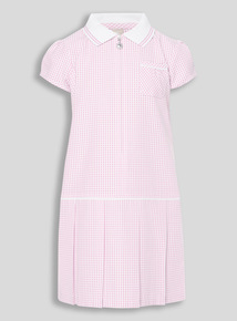 Pink Sporty Gingham Dress (3 - 12 years)