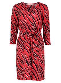 Multicoloured Zebra Print Wrap Dress