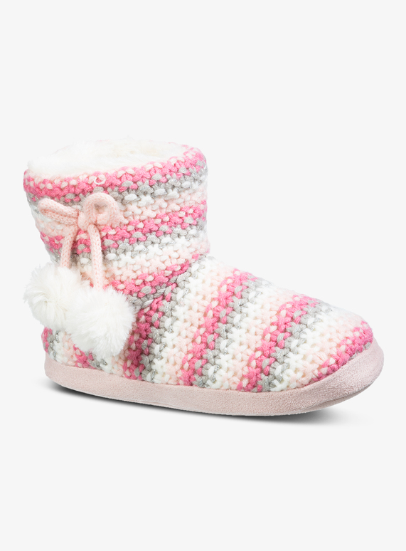 2a6d0e7e2 Kids Multicoloured Knitted Slipper Boots (10 Infant - 4) | Tu clothing