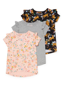 3 Pack Multicoloured Tops (3-14 years)