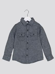 Grey Long-Sleeved Shirt (3-14 Years)