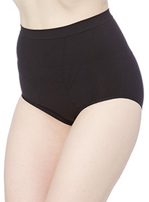 Seam Free Tummy Control Briefs Black/Nude 2 Pack