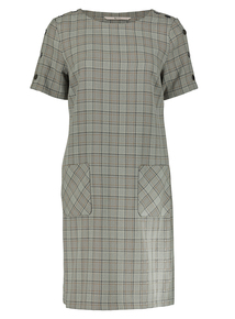 Multi-coloured Check Pocket Dress