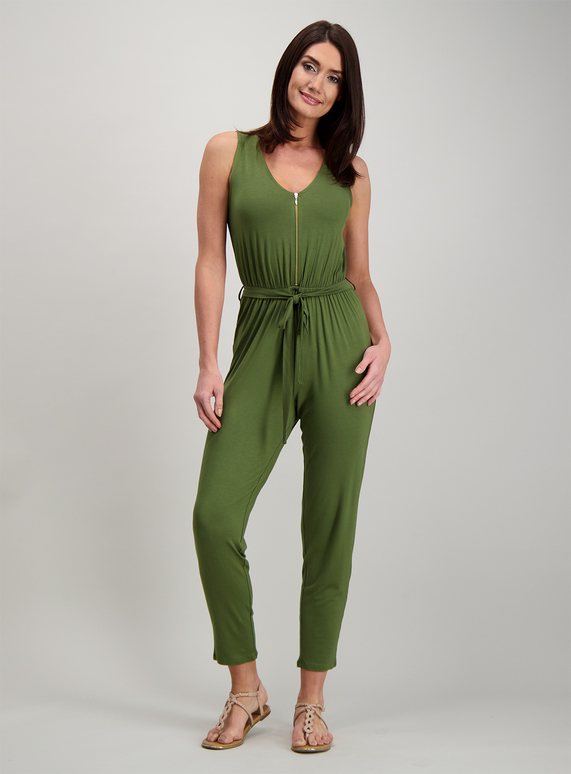 9e93ce6a485 Womens Online Exclusive Khaki Belted Jumpsuit