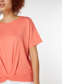 Pink Twist Front T-Shirt
