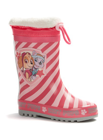 Pink Paw Patrol Wellies With Cuff