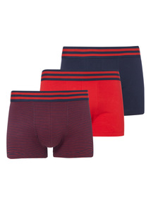 Red Striped Hipsters 3 Pack