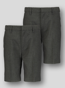 5d54337054 Online Exclusive Grey Classic School Shorts 2 Pack (3-12 Years). From £6.00