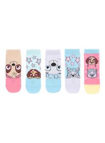 Multicoloured Paw Patrol Socks 5 Pack