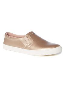 Metallic Skater Shoes