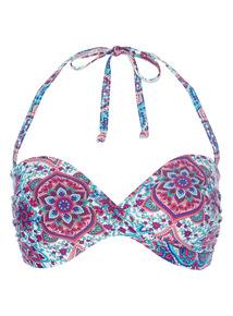 Paisley Bandeau Bikini Top