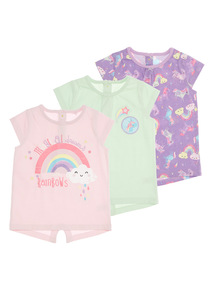Multicoloured Unicorn Tees (0-24 Months)