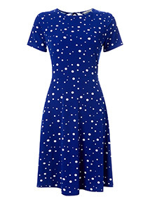 Online Exclusive Blue Polka Dot Tea Dress