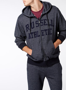 Online Exclusive Russell Athletic Navy Grindle Zip Through