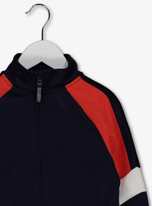 529f91cd8ce3 Navy Blue Colour Block Zip Through Jumper (3-14 years)