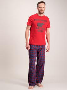 Christmas Red & Blue Pyjamas