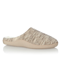 Beige Marl Cupsole Slippers