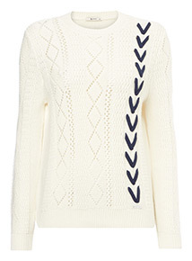 Lace Detail Pointelle Jumper